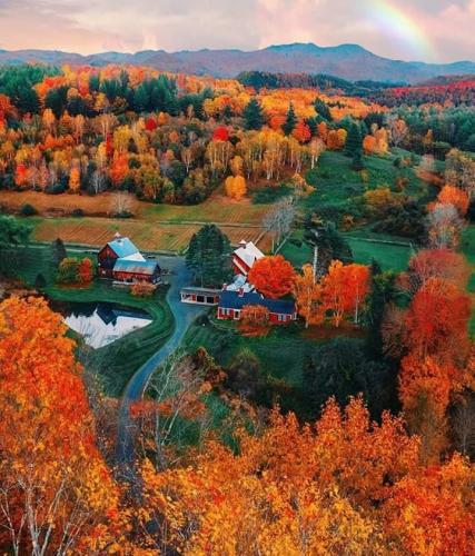 Autumn in woodstock, Vermont, USA.